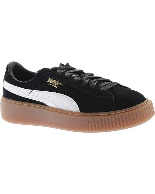 2e1e3b5668f Lyst - PUMA Suede Platform Sneakers in Black - Save 61%