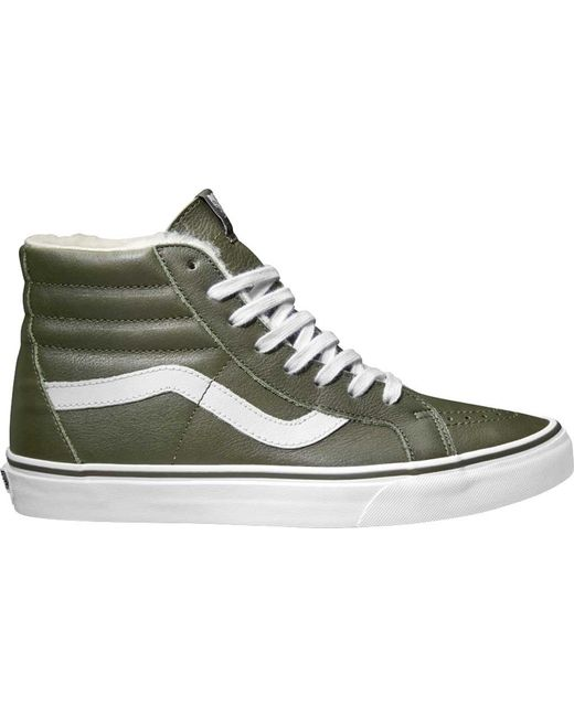 92bcac83a4aa22 Vans - White Premium Leather Sk8-hi Reissue High Top for Men - Lyst ...