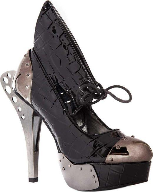 Hades - Black Astro Steampunk Heeled Sandal - Lyst
