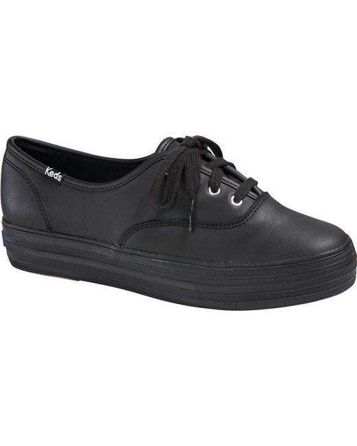 aee8f521ae775 Keds - Black Triple Leather Sneaker - Lyst ...