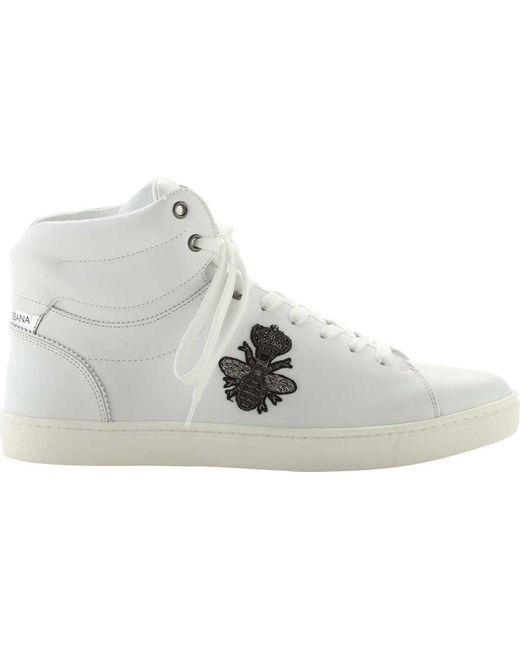 Dolce & Gabbana - White Cs18b441 High Top Sneaker for Men - Lyst