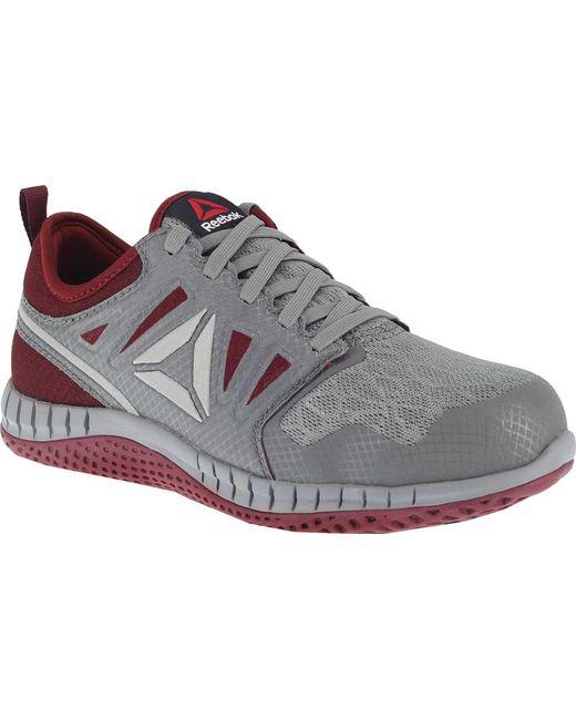 d17ace27bc8 Reebok - Gray Zprint Work Rb253 Steel Toe Athletic Work Shoe - Lyst ...