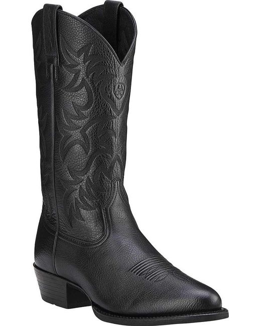 Ariat - Black Heritage Western R Toe for Men - Lyst