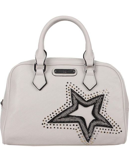 Nicole Lee - White Brona Glitz Star Patch Boston Bag - Lyst