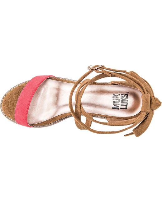 5ba7ea693d34 ... Muk Luks - Multicolor Sasha Ankle Strap Sandal - Lyst ...