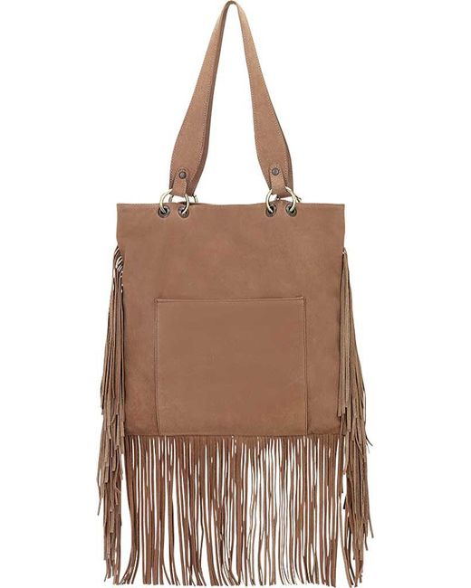 TRUELU - Brown Skye Leather Fringe Tote Bag - Lyst