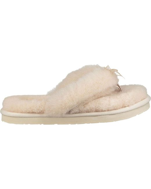43623a762ee Lyst - UGG Fluff Flip Flop Iii Slipper in Natural