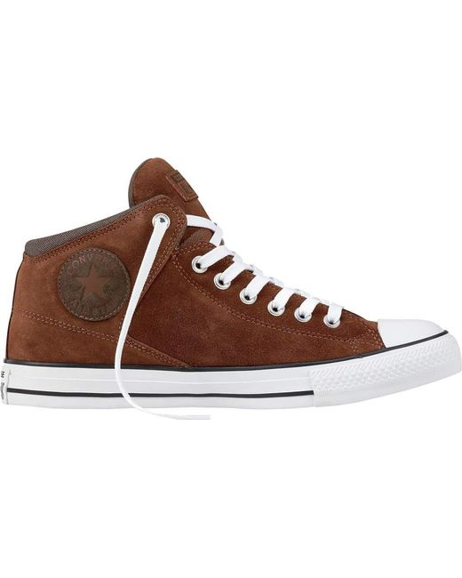 Converse - Brown Chuck Taylor All Star High Street Suede & Thermal for Men  ...
