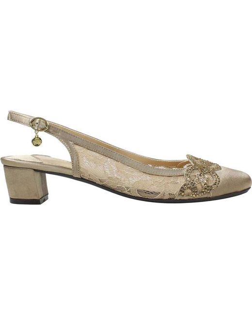 4656b5025a ... J. Reneé - Natural Faleece Low Block Heel Slingback - Lyst ...