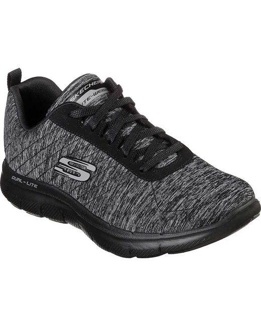 Skechers - Black Flex Appeal 2.0 High Energy Multisport Outdoor Shoes - Lyst