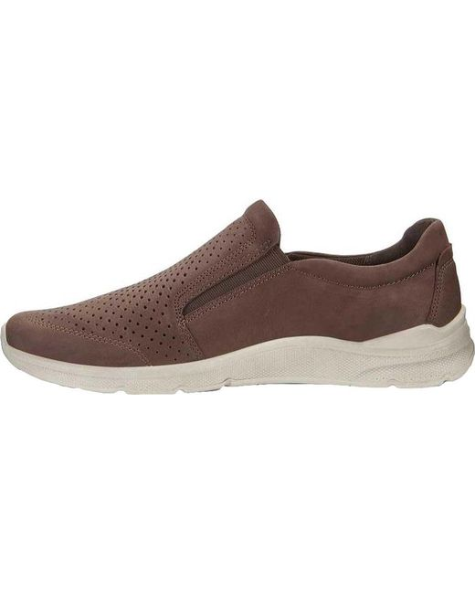9a0dd6d81eb ... Ecco - Brown Irving Slip On for Men - Lyst ...