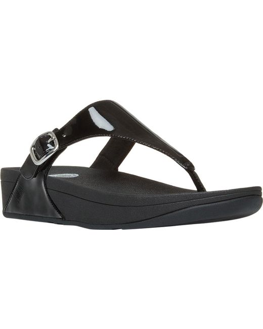 f7bc9bf1de059a Fitflop - Black The Skinny Thong Sandal - Lyst ...