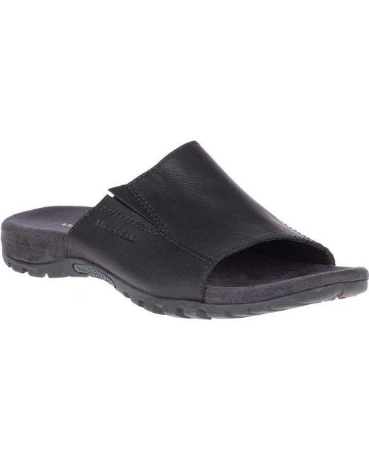 0ecf64677840d Lyst - Merrell Sandspur Slide Leather in Black for Men - Save ...