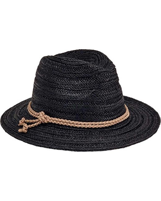 San Diego Hat Company - Black Fedora With Double Knot Braid Trim Pbf7312 - Lyst