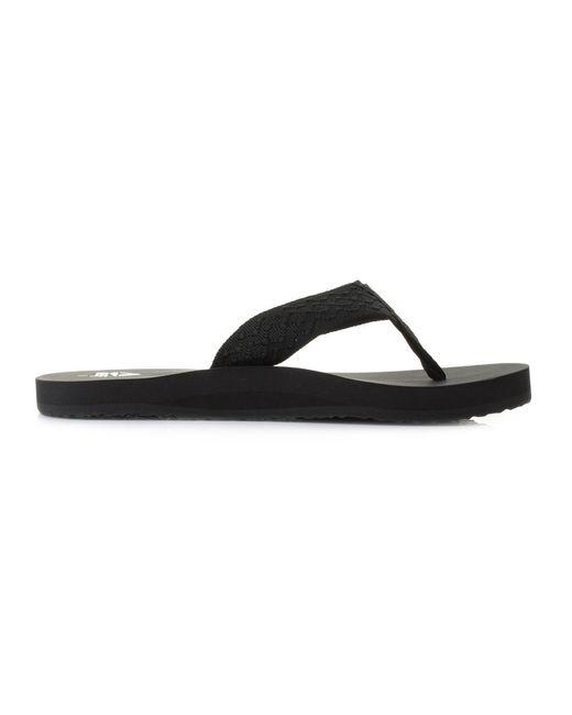 694528b17e3cda ... Reef - Black Smoothy Flip Flops for Men - Lyst ...