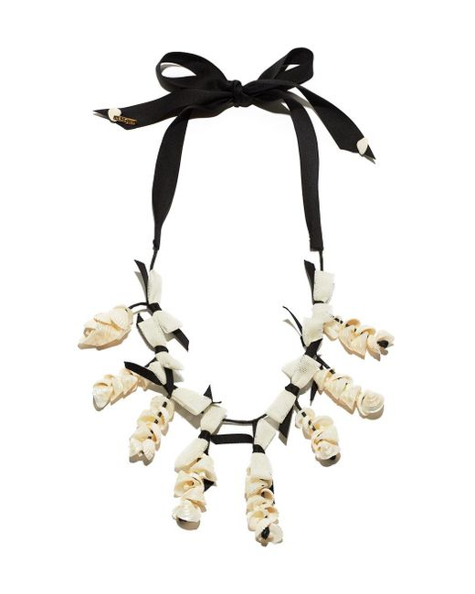 Lele Sadoughi | Black & White 'shell Collector' Necklace | Lyst