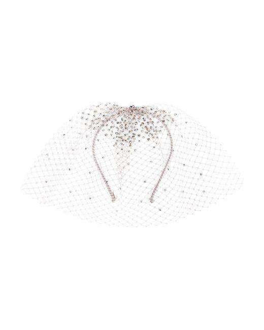 Gigi Burris Millinery   Metallic Embellished Tulle Headband   Lyst