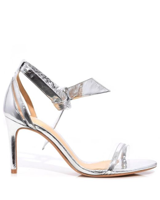 Alexandre Birman - Metallic Silver/transparent Clarita Vinyl Sandal - Lyst