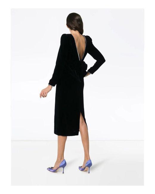 c82c55d48 ... Gucci - Black Bow Detail Dress - Lyst ...