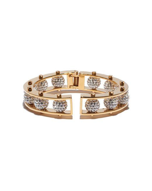 Lele Sadoughi | Metallic Gold Crystal Hinged Slider Bracelet | Lyst