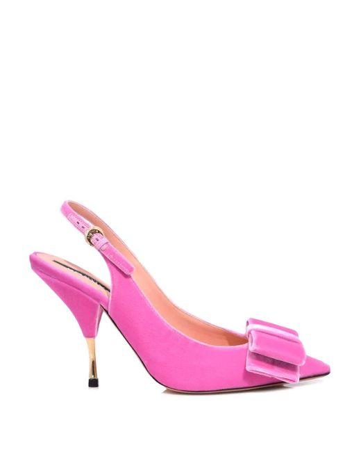 Rochas - Slingback Pump In Hot Pink Velvet - Lyst