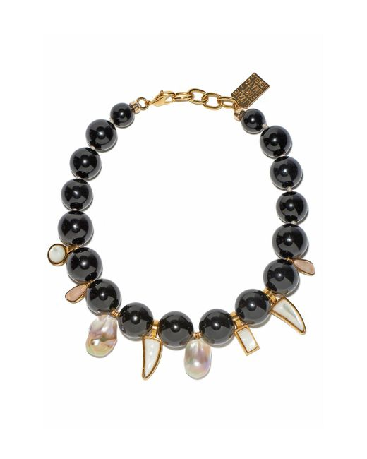 Lizzie Fortunato | Black Evora Necklace | Lyst