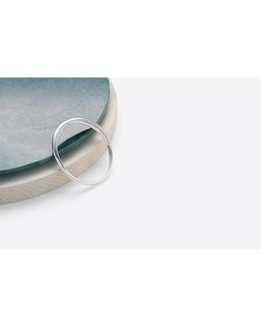 Sophie Buhai | Metallic Delicate Amorphous Bangle | Lyst
