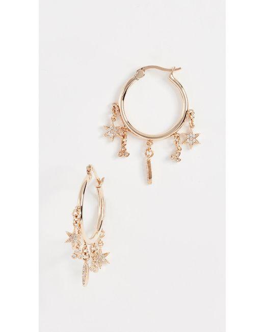 Shashi - Metallic Tori Pave Hoop Earrings - Lyst