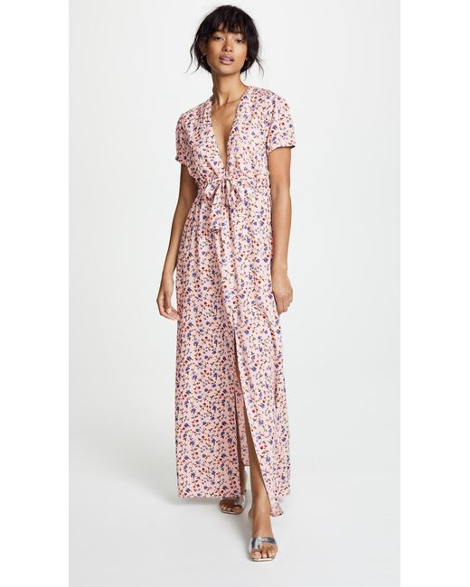 Valencia & Vine - Pink Allison Maxi Dress - Lyst