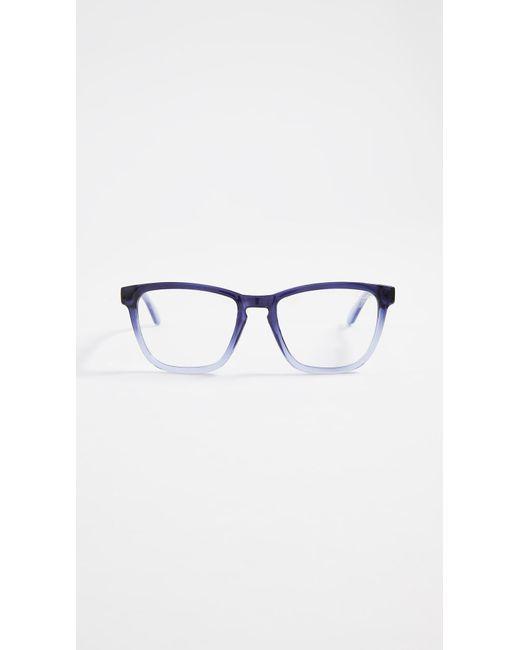 Quay - Blue Hardwire Glasses - Lyst