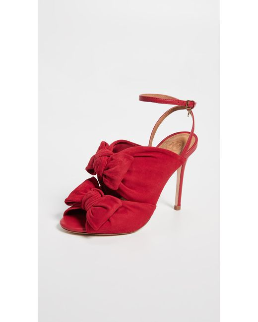 f23c54a26c8 Tory Burch - Red Eleanor 105mm Sandals - Lyst ...
