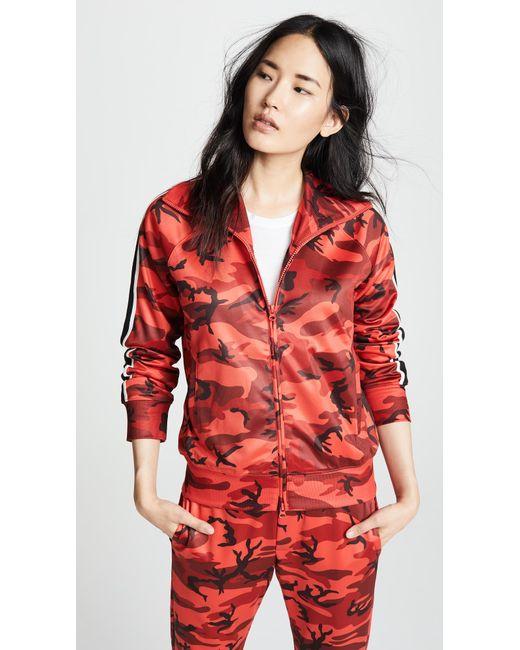 Pam & Gela - Red Camo Track Jacket - Lyst