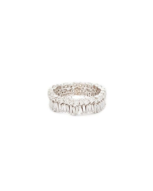 Suzanne Kalan - Metallic Fireworks 18k Gold Diamond Double Band Ring - Lyst