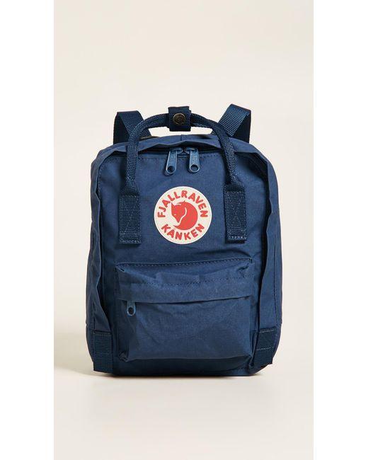 36cba2216 Fjallraven Kanken Mini Backpack in Blue - Save 7% - Lyst