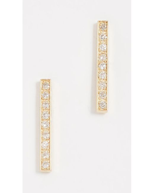 Jennifer Meyer - Metallic 18k Gold Bar Diamond Stud Earrings - Lyst