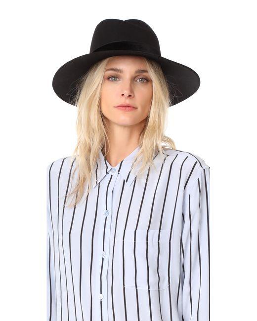 Rag & Bone | Black Zoe Fedora Hat | Lyst