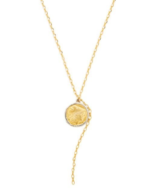 Kenneth Jay Lane | Metallic Coin Chain Lariat Necklace | Lyst