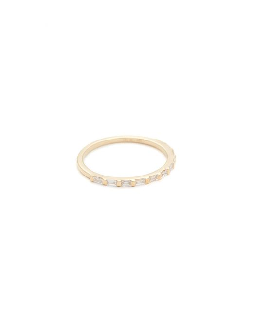 EF Collection | Metallic 14k Gold Eternity Ring | Lyst