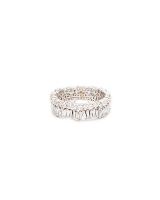 Suzanne Kalan - Metallic Fireworks 18k Gold Diamond Double Band Ring - Lyst