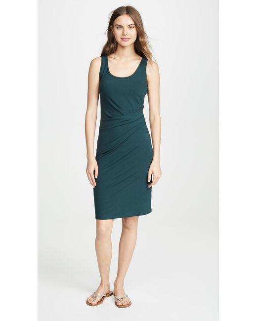 bdd3acb05f30 Theory - Green Round Neck Dress - Lyst ...