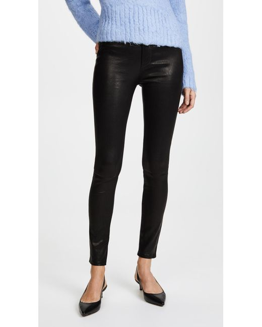 Rag & Bone - Black High Rise Skinny Leather Pants - Lyst