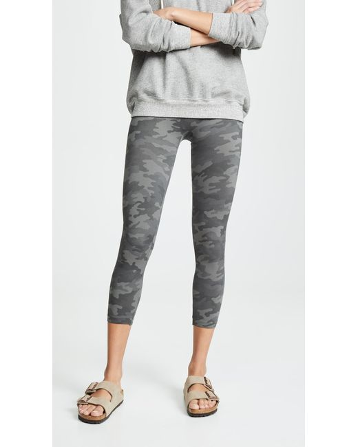 30ed4b893d782 Spanx - Gray Cropped Look At Me Now Seamless Leggings - Lyst ...