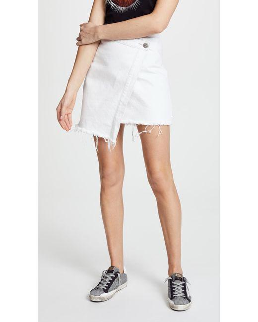 One Teaspoon - White Wild Thing Skirt - Lyst