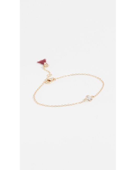 Shashi - Metallic Solitaire Bracelet - Lyst