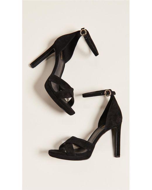 c01b945705a8 ... MICHAEL Michael Kors - Black Alexia Ankle Strap Sandals - Lyst ...