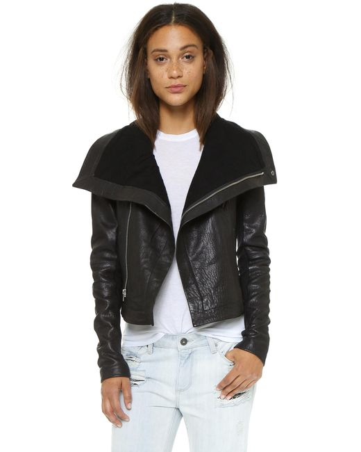 VEDA | Black Max Classic Leather Jacket | Lyst