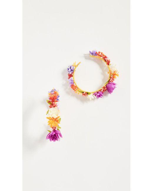 Mercedes Salazar | Multicolor Rainbow Days Hoop Earrings | Lyst