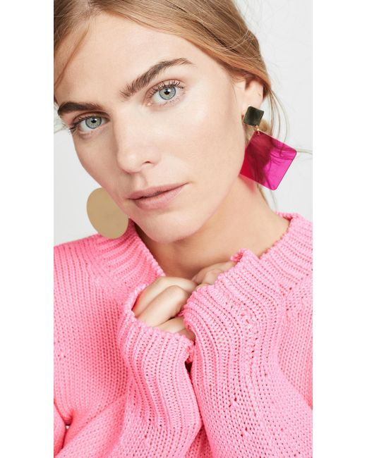 Isabel Marant - Pink Boucle Oreill Earrings - Lyst