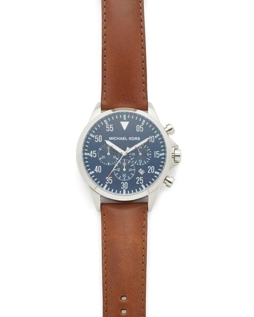 Michael Kors - Blue Gage Chronograph Watch - Lyst