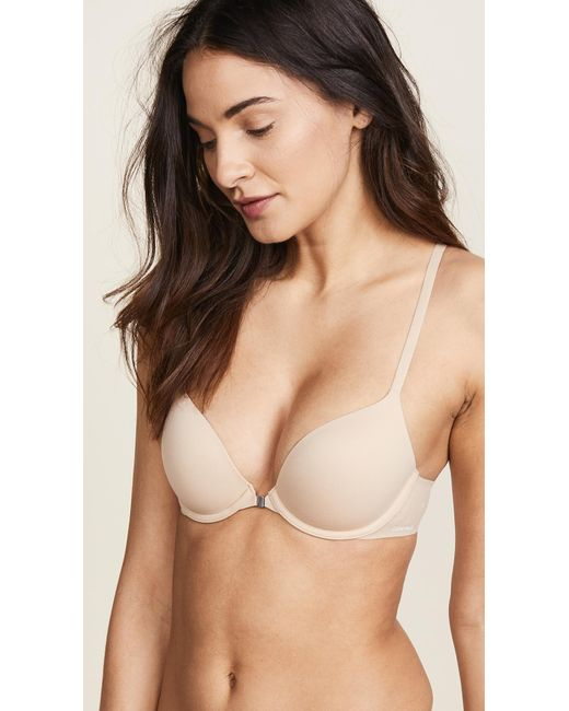 CALVIN KLEIN 205W39NYC - Natural Perfectly Fit Racer Back T-shirt Bra - Lyst